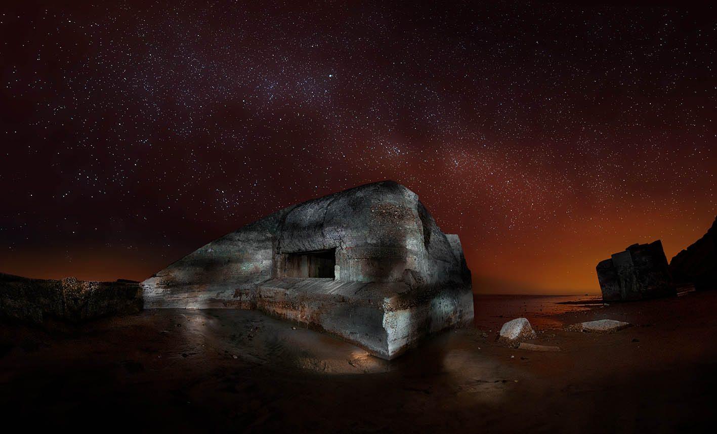 DSC00955_Naujac-sur-Mer_Bunker_Nachts_Sternenhimmel_WW-4-